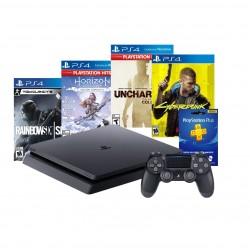 Consola PS4 + 4 juegos (MEGA PACK 16 + CIBERPUNK 2077)