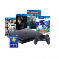 Consola PS4 + 4 juegos (MEGA PACK 13 + CAPTAIN TSUBASA)
