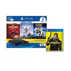 Editar: Consola Ps4 + 4 juegos (MEGA PACK 15 + CIBERPUNK 2077)